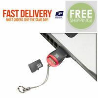Micro SD to USB Memory Card Adapter Reader Dongle  Drive Pen Supports 64GB #01