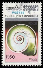 "CAMBODIA 888 (Mi966) - ""Chloraea sirena"" Snail Shell (pf80985)"
