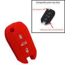 Funda Mando Roja de Silicona para Peugeot 208, 2008, 308, 3008, 508, 5008