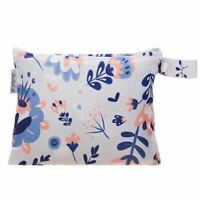 Small Waterproof Wet Bag with Zip 19 x 16cm - Floral Design