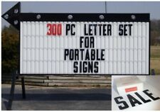 New 8 Plastic Outdoor Readerboard Marquee Sign Letters 8 On 8 78 300 Count