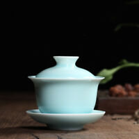 real longquan celadon gaiwan porcelain tea bowl lid cup saucer covered bowls new