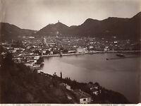 Italia Lago Di Como Foto Nessi Vintage Albumina Ca 1880