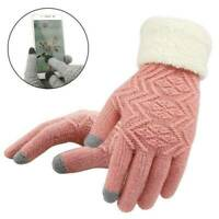 Winter Women Knitted Gloves Touch Screen Female Gloves Knitted Thicken Warm Hot