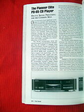 "Pioneer Elite PD-65 CD player review ""Absolute Sound"" magazine Winter 1994"