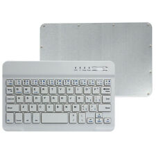 Ultra Slim Aluminum Wireless Bluetooth Keyboard For IOS Android PC Tablet White