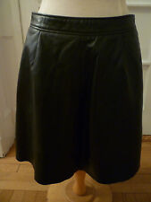 NWT: LUCKY BRAND Black Leather Knee Length A-Line Skirt, Large