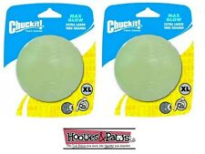 Chuckit Max Glow Ball Extra large 2pk pack Dog toy For in the Dark Fetch