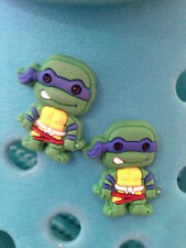 2 Leonardo Teenage Mutant Ninja Turtles Shoe Charms. Free UK P&P