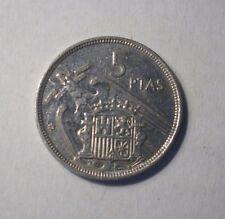 Münze Spanien 5 PTAS 1957