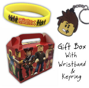 ROBLOX Gift Box with Keyring, Wristband - Party Bag Fillers Favour Loot supplies