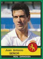 352 JUAN ANTONIO SENOR # ESPANA REAL ZARAGOZA STICKER CROMO PANINI FUTBOL 90