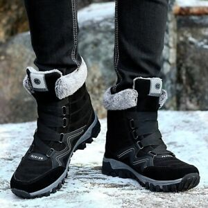 Leather Winter Snow Boots Fur Super Warm Women Men Fashion Work Casual Shoes