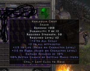 Diablo 2: Resurrected Harlequin Crest Shako Softcore D2R PC US EU Asia