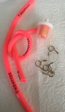 1x Motorcycle Scooter 5mm Pink Gas Inline Fuel Filter Petrol Pipe Hose +4 Clips