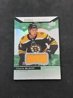 2017-18 UD TRILOGY CHARLIE MCAVOY LEVEL 1 ROOKIE PREMIERES JERSEY #ed 31/399