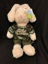 Super Soft Easter Bunny Camo Clothing Baby Boy Toddler Plush Dandee Lovey Toy