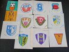 100616 12 verschiedene original DDR Oberliga Aufkleber aus DDR Zeiten