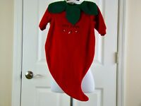 Hot Stuff Chili Pepper Infant Costume Red and Green - Size 0-6 months