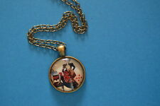 RED QUEEN  Cabochon PENDANT -  NECKLACE  New! Jewelry  USA!  Alice in Wonderland