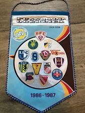 DDR Oberliga 1986/87 Wimpel Pennant FCM Dynamo Jena Lok Union Aue Cottbus