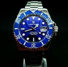 PAGANI DESIGN AUTOMATIC CERAMIC SMURF DIVERS WATCH SEIKO NH35A SUBMARINER HOMAGE
