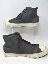 Converse Chuck Taylor All Star  Hi Gray Leather Retro Mens Sneaker Shoe 9 Hi-top