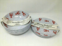 Tommy Bahama  Melamine Indoor / Outdoor Dinnerware Sets LOBSTERS (See Choices)