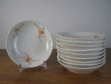 Set of 10 Theodore Haviland Limoges Butter Pats with Pink Rose Design