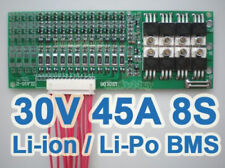 8s 28V 29.6V 33.6V 45A 8x 3.7V 8S Lithium ion Li-PO Polymer Battery BMS PCB