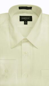 Omega Men's Premium Regular fit Long Sleeve Dress Shirt 26 Colors Part 1