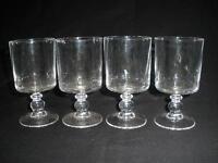 FABULOUS SET OF 4 CRYSTAL WINE GLASSES