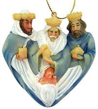 Three Kings Magi with Infant Jesus Nativity of Christ Handpainted Resin Ornament