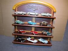 1950'S DIECAST CARS OF THE FIFTIES 12 CARS FRANKLIN MINT 1:48 WITH DISPLAY SHELF