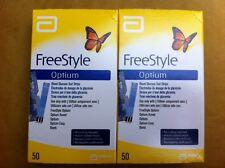 100 Freestyle Optium Plus Blood Glucose Test Strips (FREE P&P)