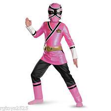 Power Rangers Samurai Pink Ranger Deluxe Child Costume Size 10-12 Large New