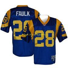 Youth MARSHALL FAULK Saint Louis RAMS Home THROWBACK Premier NFL Jersey Sz S