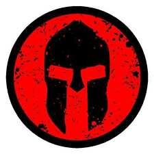Spartan Sticker Decal Round Red