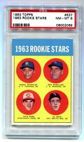 1963 TOPPS #527 PETE ROSE RC ROOKIE PSA 8 NM-MT B06002069