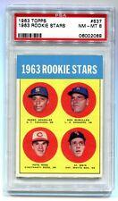 1963 TOPPS #527 PETE ROSE RC ROOKIE PSA 8 NM-MT B06002069