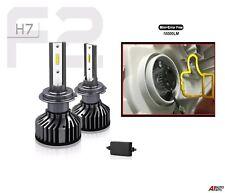 2 Pcs H7 F2 Mini Led Headlight Kit Lights Lamp Super White Canbus Error Free 12v