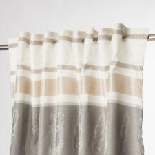 Vorhang Fertigvorhang mit Schlaufenband Feder beige grau 140x245cm