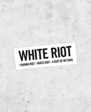"The Clash lyric Sticker! ""White Riot"" joe strummer punk 1970s uk sex pistols"