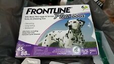Frontline Plus for Dogs 45-88 lbs Flea and Tick Treatment NEW, LOT OF 14 doses!!