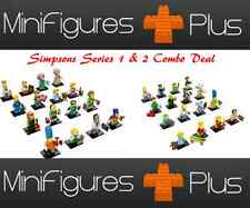 NEW LEGO 71005 & 71009 Complete Set of 16 MINIFIGURES S & Simpsons Series 2