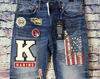 AE X Keith Haring Men's Slim Fit Jeans From American Eagle *NWT* *Rare*