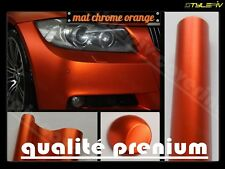Film vinyle covering orange mat chrome 152 x 300 cm thermoformable adhésif