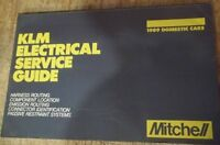 KLM Electric Service Guide Mitchell for Domestic 1989