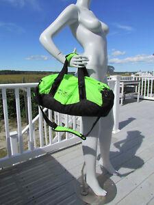 NEW RLX duffel bag Ralph Lauren $125 neon green nylon packable lightweight Polo