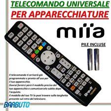 TELECOMANDO UNIVERSALE PER APPARECCHI MARCA MIIA - INVIARE CODICE MODELLO TV